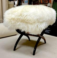Jean Roy re Jean Royere iconic sheep fur stool - 1838539