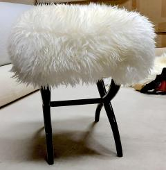 Jean Roy re Jean Royere iconic sheep fur stool - 1838540