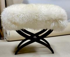 Jean Roy re Jean Royere iconic sheep fur stool - 1838543
