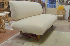 Jean Roy re Jean Royere rarest documented genuine slipper couch model Sculpture - 1828704