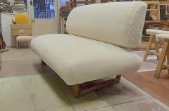 Jean Roy re Jean Royere rarest documented genuine slipper couch model Sculpture - 1828717