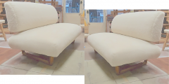 Jean Roy re Jean Royere rarest documented genuine slipper couch model Sculpture - 1828742
