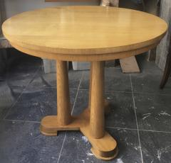 Jean Roy re Jean Royere rarest genuine oak small dinning table or central table - 1320097