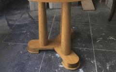 Jean Roy re Jean Royere rarest genuine oak small dinning table or central table - 1320101