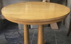 Jean Roy re Jean Royere rarest genuine oak small dinning table or central table - 1320102