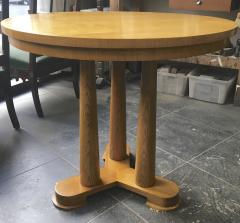 Jean Roy re Jean Royere rarest genuine oak small dinning table or central table - 1320155