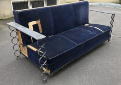 Jean Roy re Jean Royere rarest genuine vintage documented model Ruban couch - 1730836