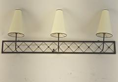 Jean Roy re Jean Royere rarest large 3 lights model tour Eiffel sconce - 1519387