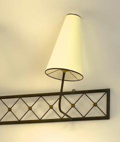 Jean Roy re Jean Royere rarest large 3 lights model tour Eiffel sconce - 1519390