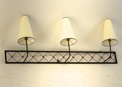 Jean Roy re Jean Royere rarest large 3 lights model tour Eiffel sconce - 1519391