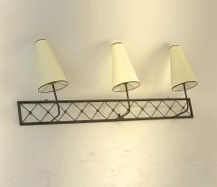 Jean Roy re Jean Royere rarest large 3 lights model tour Eiffel sconce - 1519393