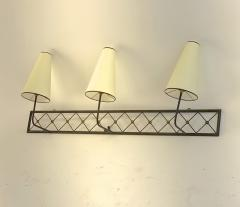 Jean Roy re Jean Royere rarest large 3 lights model tour Eiffel sconce - 1519398