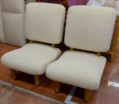 Jean Roy re Jean Royere rarest pair of Visiteur du soir wool faux fur slipper chairs - 2134542