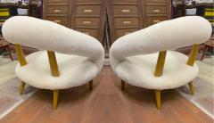 Jean Roy re Jean Royere rarest unique Chambre a air model pair of lounge chairs - 1754461