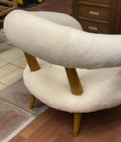 Jean Roy re Jean Royere rarest unique Chambre a air model pair of lounge chairs - 1754467