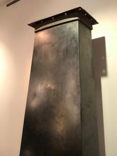 Jean Roy re Mid Century Modernist Metal Fireplace in the style of Jean Royere - 385428