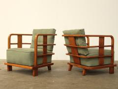 Jean Roy Re Pair Of French Club Chairs Att Jean Royere   496905