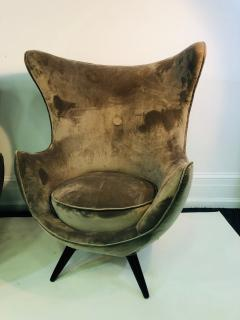 Jean Roy re Pair of Italian Chairs in the Manner of Jean Royere - 1074824