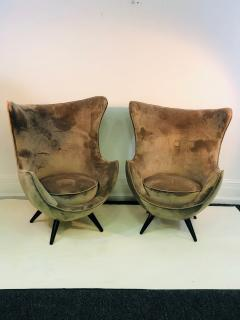 Jean Roy re Pair of Italian Chairs in the Manner of Jean Royere - 1074826