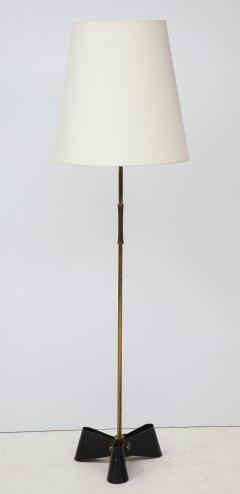 Jean Roy re Unique bronze and wrought iron floor lamp 1950s - 1740049