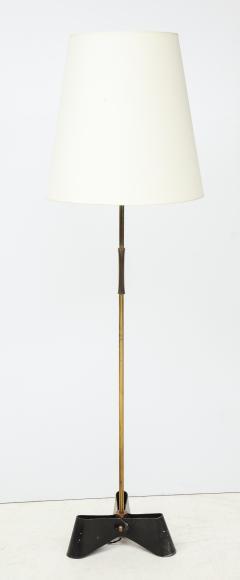 Jean Roy re Unique bronze and wrought iron floor lamp 1950s - 1740050