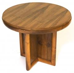 Jean Roy re jean Royere for gouffe rare coffee table with sturdy cylinder accent base - 953919