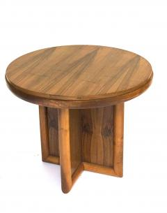 Jean Roy re jean Royere for gouffe rare coffee table with sturdy cylinder accent base - 953921