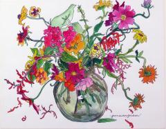 Jean Swan Gordon Bouquet in Glass Bowl - 1397572