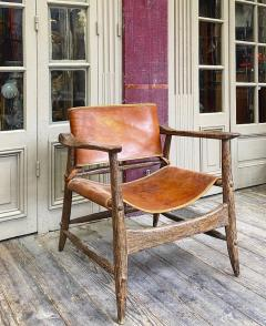 Jean Touret Jean Touret stunning brutalist a la gouge oak set of 4 organic lounge chairs - 1689043