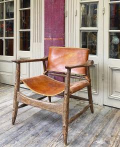 Jean Touret Jean Touret stunning brutalist a la gouge oak set of 4 organic lounge chairs - 1689044