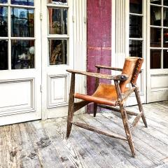 Jean Touret Jean Touret stunning brutalist a la gouge oak set of 4 organic lounge chairs - 1689055