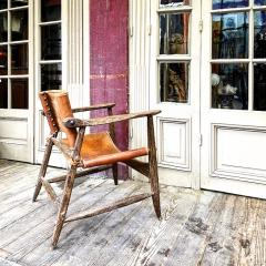Jean Touret Jean Touret stunning brutalist a la gouge oak set of 4 organic lounge chairs - 1689056
