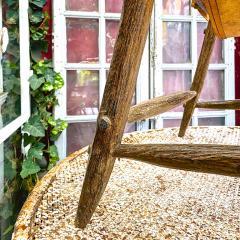 Jean Touret Jean Touret stunning brutalist a la gouge oak set of 4 organic lounge chairs - 1689071