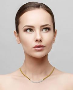 Jean Vitau Gemlok Gemveto Diamond Necklace - 458299