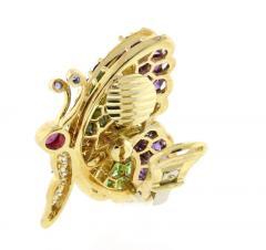 Jean Vitau Jean Vitau Multi Gem Butterfly Earrings - 1095158