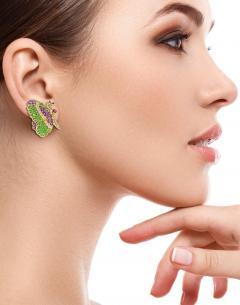 Jean Vitau Jean Vitau Multi Gem Butterfly Earrings - 1095160