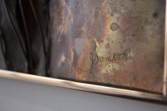 Jeanne Samper Jeanne Samper Brutalist Wall Sculpture in Copper with Mirror 1960s - 1774204