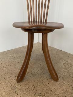 Jeffrey Greene A Set of 6 American Modern Walnut High Back Dining Chairs Jeffrey Greene - 1752402