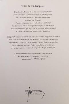 Jeffrey Koons Jeff Koons Balloon Dog Yellow 2015 Signed and Numbered - 140118