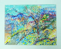 Jehudith Sobel Impressionistic Landscape Watercolor - 1079492