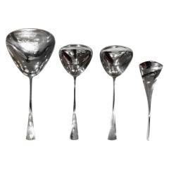Jens H Quistgaard Jens Quistgaard Exceptional Tjorn Solid Sterling Silver Flatware Servie 1960s - 375445