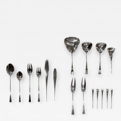 Jens H Quistgaard Jens Quistgaard Exceptional Tjorn Solid Sterling Silver Flatware Servie 1960s - 376555