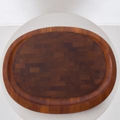 Jens Quistgaard DANSK Meat Carving Board Tray Serving Platter Staved Solid Teak Jens Quistgaard - 1847863