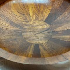 Jens Quistgaard DANSK Staved Teak Wood Centerpiece Bowl DENMARK Jens Quistgaard 1970s - 1983913
