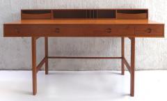 Jens Quistgaard Danish Modern Flip Top Teak Desk by Jens Quistgaard for Peter L vig Nielsen - 1240353
