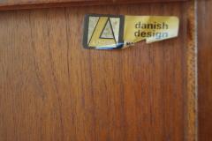 Jens Quistgaard Danish Modern Tambour Door Credenza Cabinet Hutch Jens H Quistgaard for Lovig - 1796039