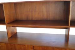 Jens Quistgaard Danish Modern Tambour Door Credenza Cabinet Hutch Jens H Quistgaard for Lovig - 1796040