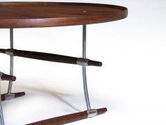Jens Quistgaard Jens Quistgaard for Nissen Langa Circular Rosewood and Chrome Coffee Table - 1053842