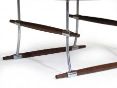 Jens Quistgaard Jens Quistgaard for Nissen Langa Circular Rosewood and Chrome Coffee Table - 1053843