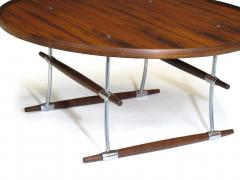 Jens Quistgaard Jens Quistgaard for Nissen Langa Circular Rosewood and Chrome Coffee Table - 1053847